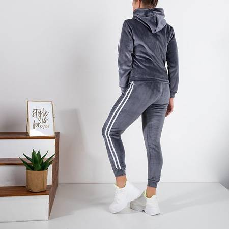 Women's gray insulated tracksuit set - Clothing