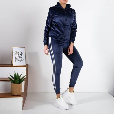 Women's navy blue insulated tracksuit set - Clothing