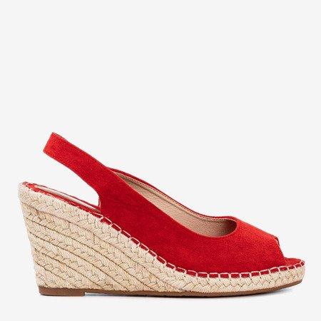 Women's red wedge sandals Lacasia - Footwear