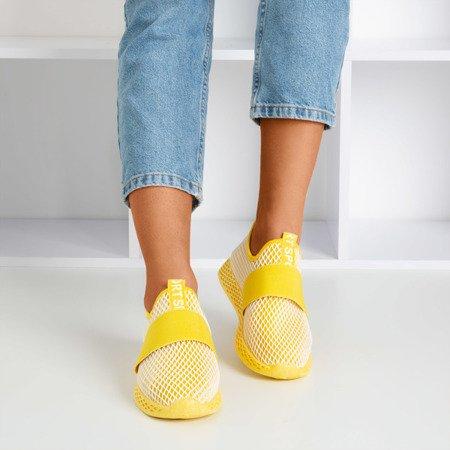 Women's yellow slip sports shoes - on Andalia - Footwear