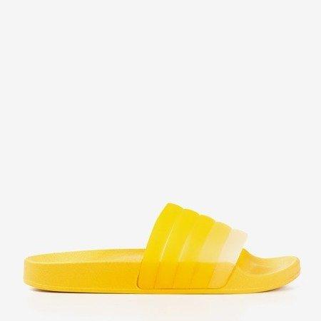 Yellow Nalina rubber flaps - Footwear 1