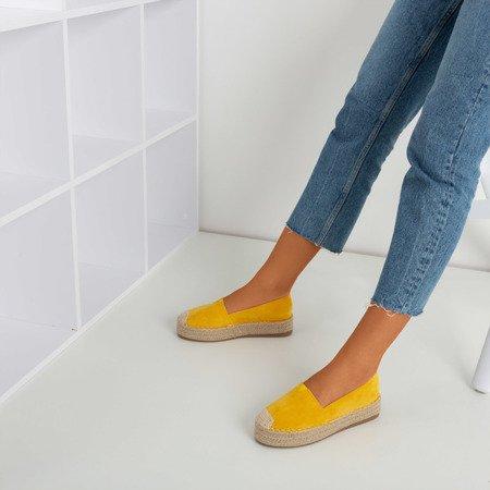 Yellow espadrilles on the Roseanne platform - Footwear 1