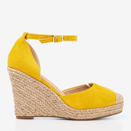 Yellow espadrilles on the wedge Bonita - Footwear
