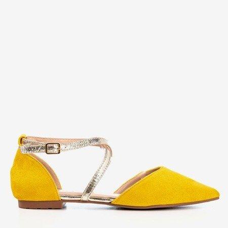 Yellow women's flat ballerinas Vosia - Footwear