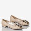 Beige ballerinas made of Milja eco leather - Footwear 1