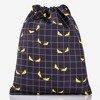 Black backpack bag with decorative eyes - Backpacks