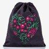 Black backpack bag with floral print - Backpacks 1