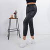 Black eco-leather women's cargo pants - Trousers