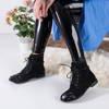 Bodrum Black Lace-up Women's Booties - Footwear