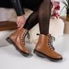 Lesita brown eco-leather women's boots - shoes