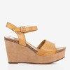 Light brown women's sandals on the wedge Autonoe - Footwear 1