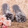 Light gray flip-flops with flowers Dormeque - Footwear 1
