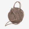 Round straw bag for women in dark brown - Handbags 1
