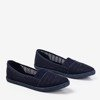 Women's navy blue openwork slip - on Ticolisa - Footwear