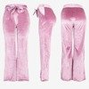 Women's pink straight pants - Trousers