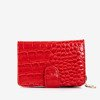 Women's red wallet with animal embossing - Wallet