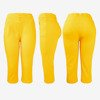 Yellow short leggings with buttons on the waist - Pants 1